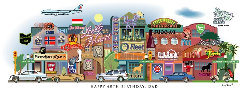 Personalized birthday art print