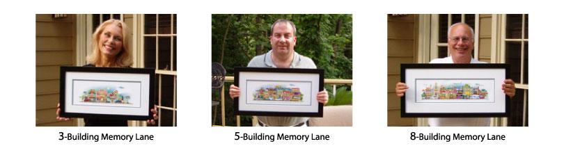 Memory Lane giclee art prints are available in three sizes.